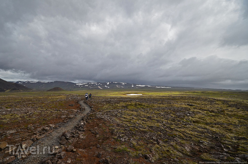 Спуск в вулкан в Исландии / Фото из Исландии