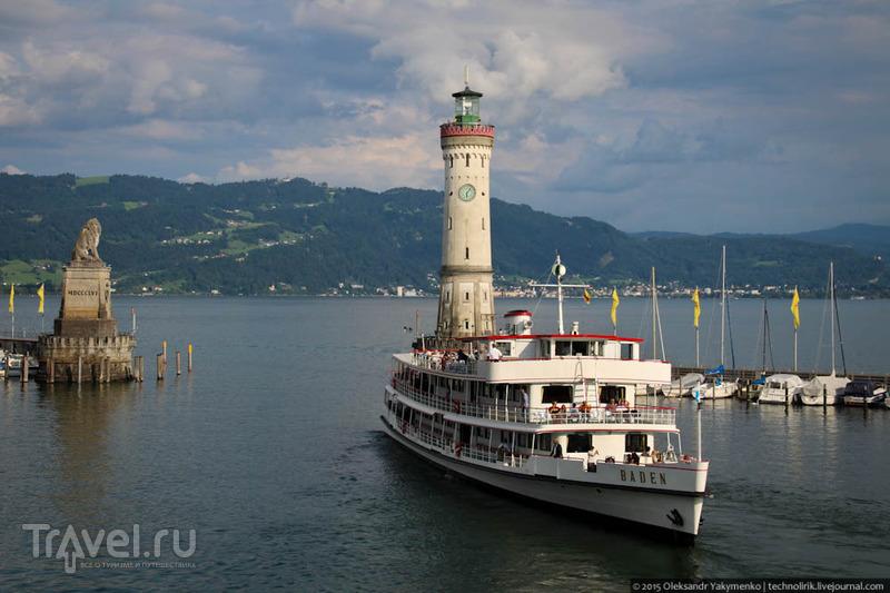 Neue Leuchtturm в Линдау - единственный маяк Боденского озера / Фото из Германии