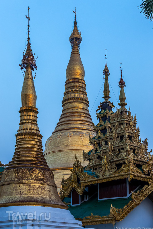 Бирма. Shwedagon Pagoda. Вечерняя съемка / Фото из Мьянмы