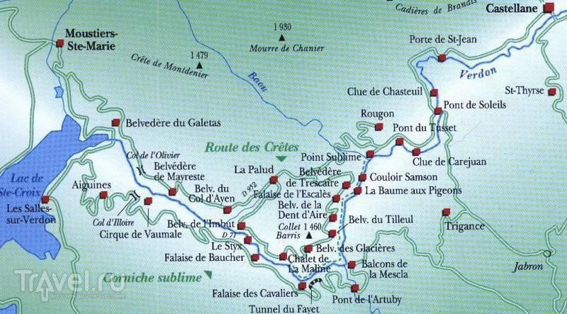 Прованс, Вердонское ущелье (Gorges du Verdon) - ещё один взгляд / Фото из Франции