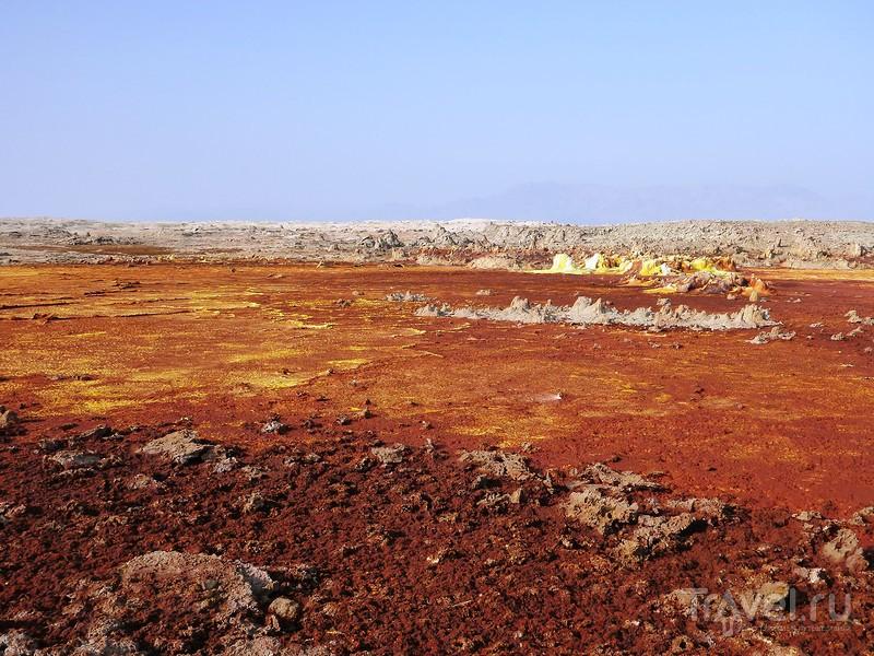 Космические пейзажи вулкана Даллол и прочие солено-химические чудесатости впадины Данакиль / Фото из Эфиопии