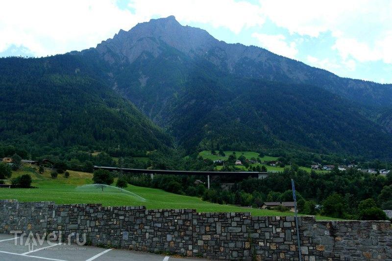 Бриг, Швейцария - пробежка по городу перед отъездом / Швейцария