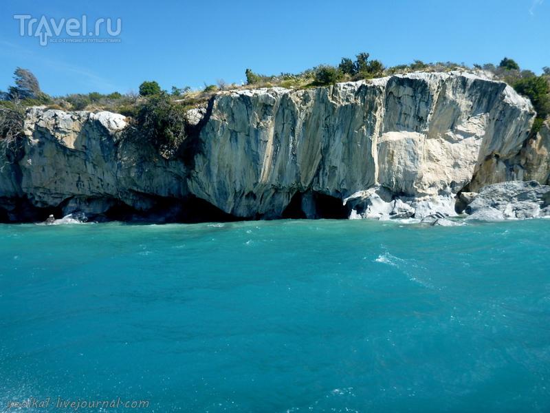 Чили - сбыча мечт! Карретера Аустраль. Las Cavernas de Mármol. La Cueva  - Мраморная пещера / Фото из Чили