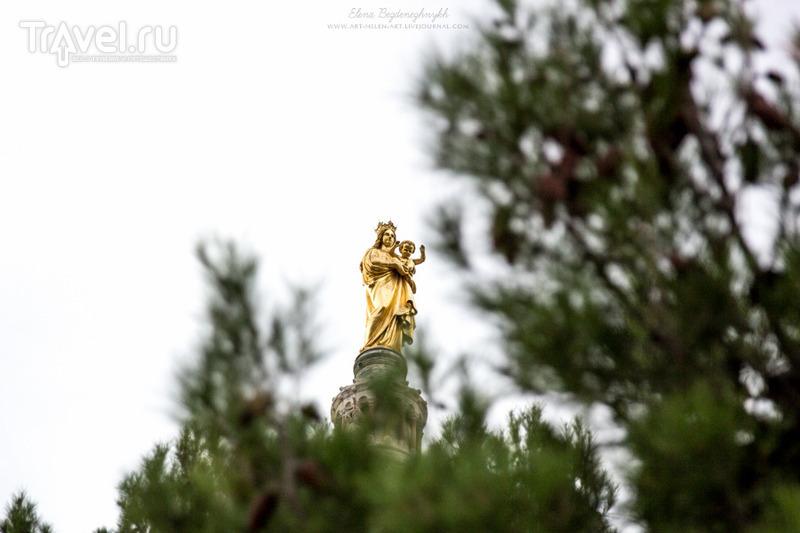 Марсель. Базилика Нотр Дам де ля Гард. Какой подъем и что видно сверху? / Франция