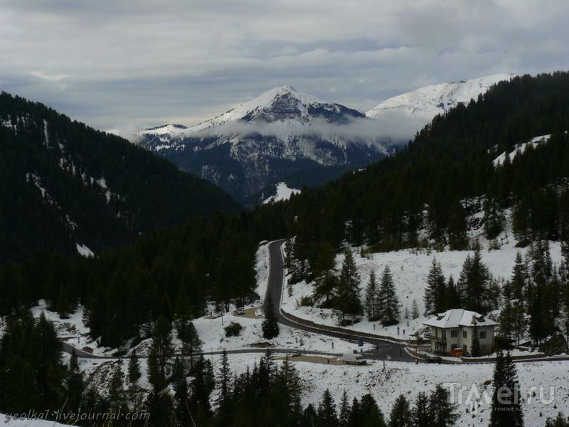 Валь Гардена и Валь ди Фасса под сентябрьским снегом... / Фото из Италии