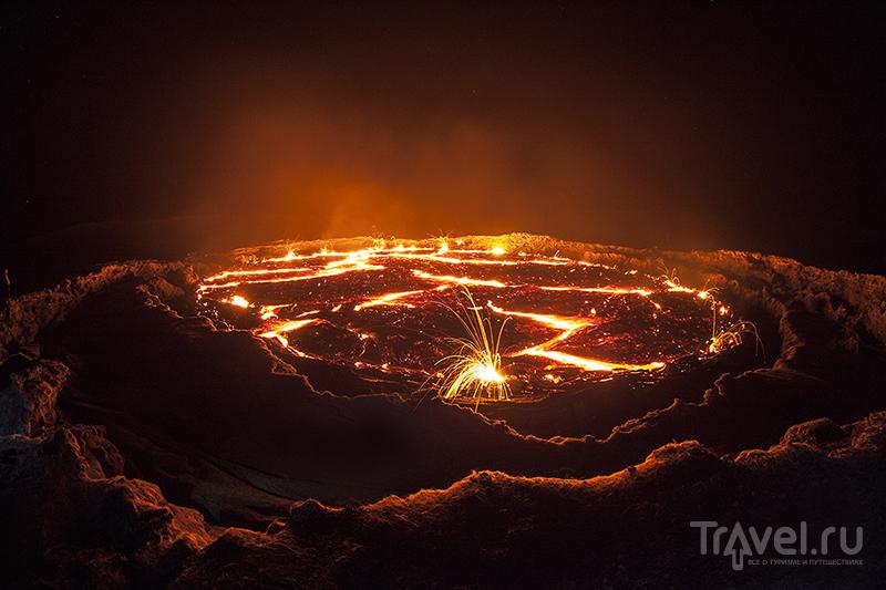 Вулкан Эрта Але в Эфиопии / Фото из Эфиопии