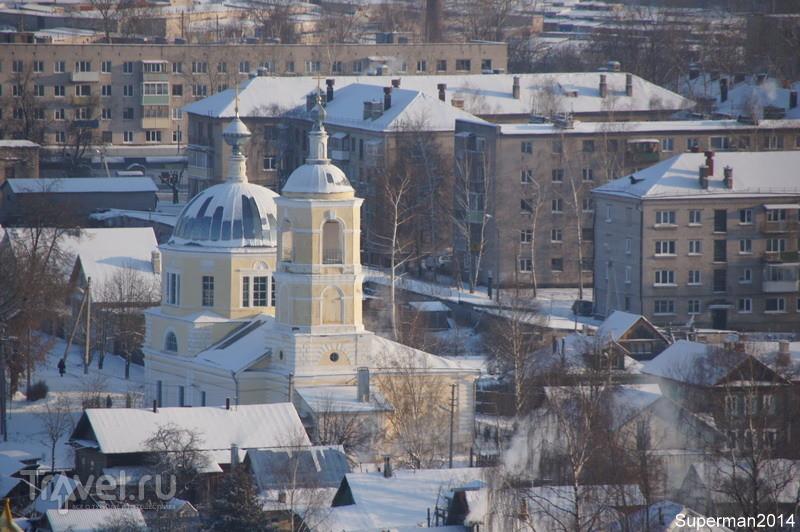 Торжок. Виды с колокольни Борисоглебского монастыря / Россия