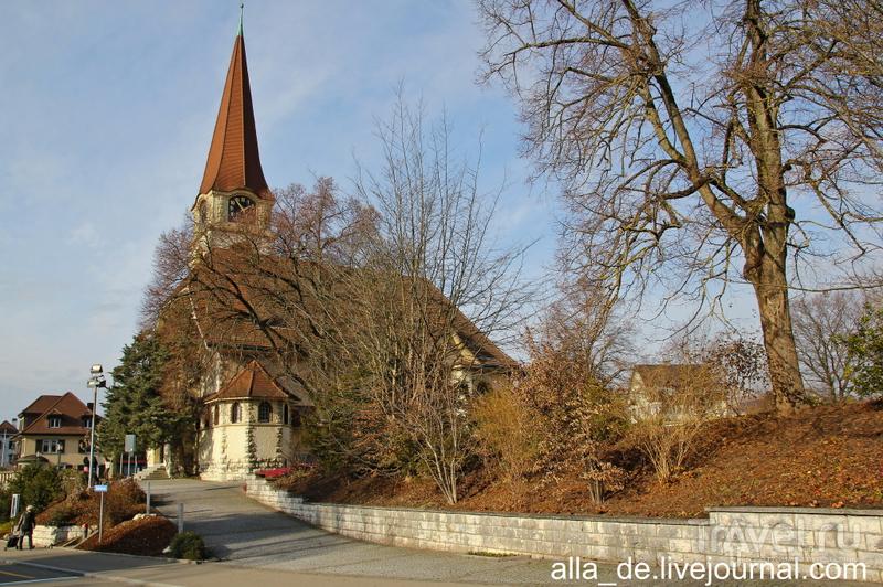Церковь в швейцарском городке Wallisellen / Швейцария