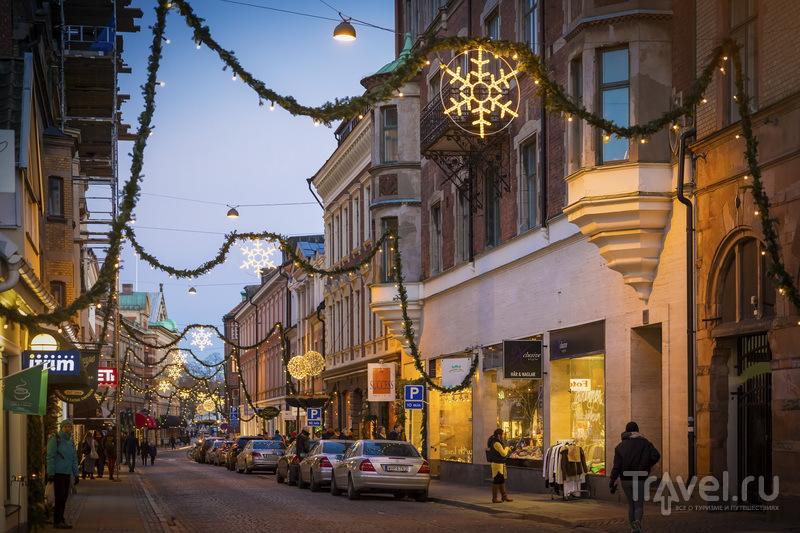 Рождественские декорации на улицах Лунда