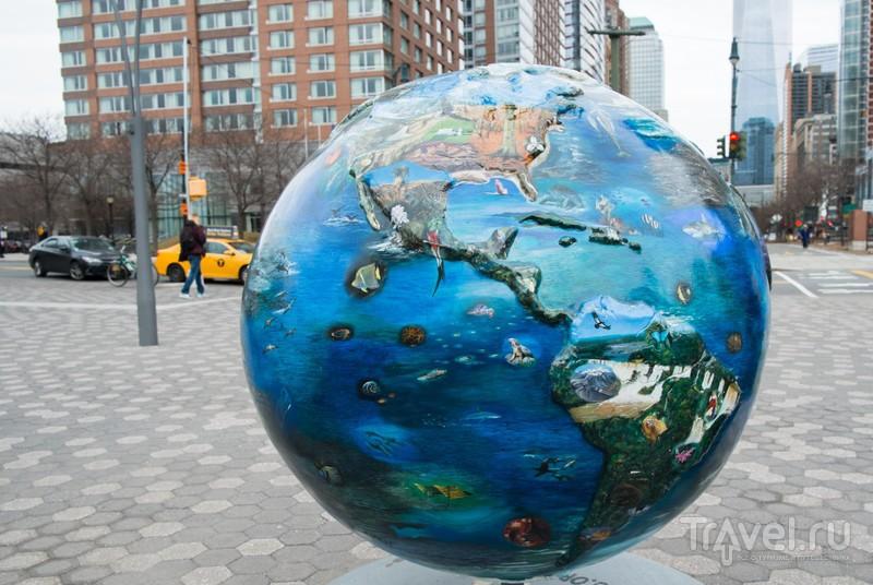 Экоглобусы в Нью-Йорке / США