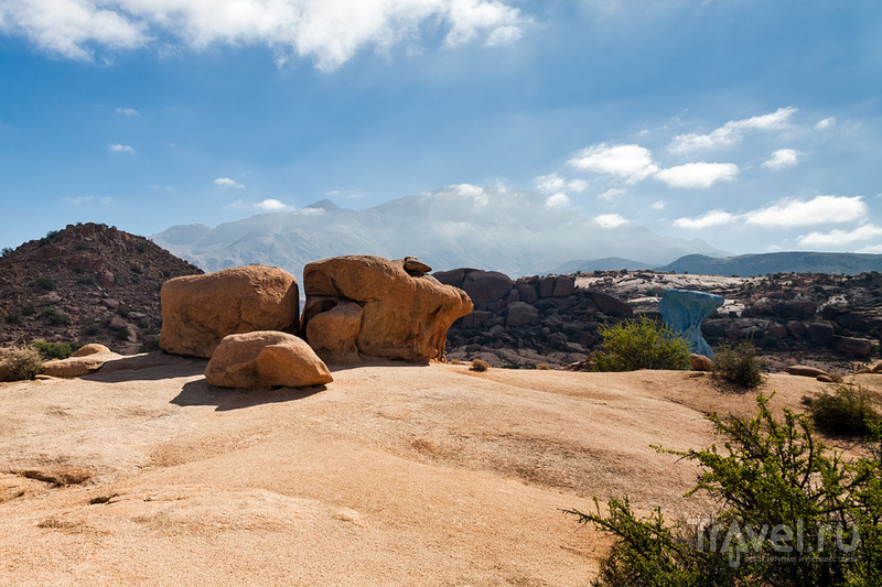 Марокканский бомж-вояж. Город Тафраут и Голубые скалы / Фото из Марокко