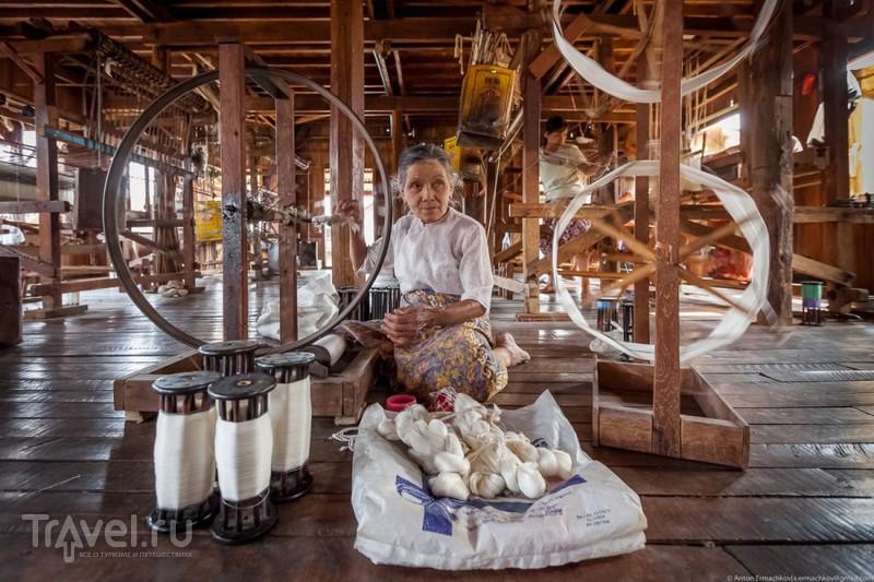 Бирма. Озеро Инле. Ткацкая фабрика / Фото из Мьянмы