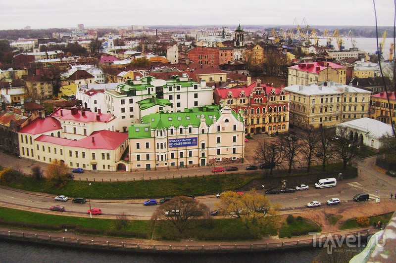 Выборг с высоты птичьего полёта / Россия