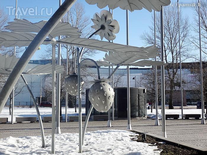 Необычное в Хельсинки - памятник Землянике и Часовня Тишины / Финляндия