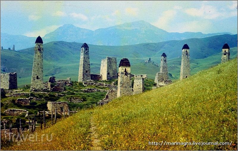 Путешествия по СССР.  Ингушетия,  аул Эрзи: в стране  башен / Россия