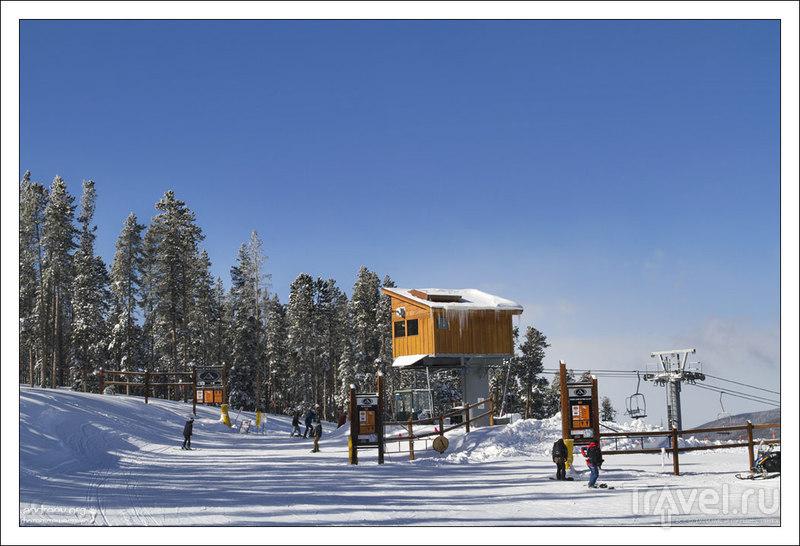 На лыжах в Каменном Ключе. Колорадо, США / Фото из США