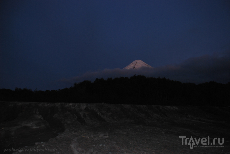Чили - сбыча мечт! Край вулканов и озер. Рассвет на вулкане Осорно и озере Всех Святых / Фото из Чили