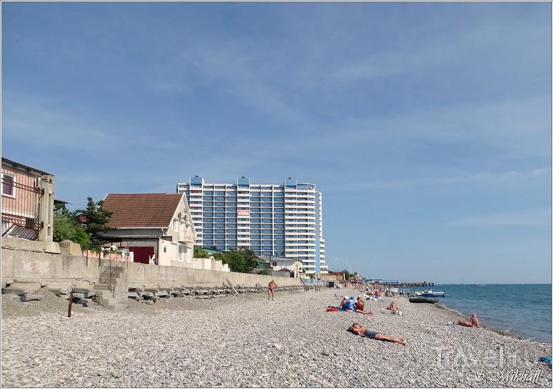 Лазаревское. Прогулка по пляжу и набережной / Фото из России