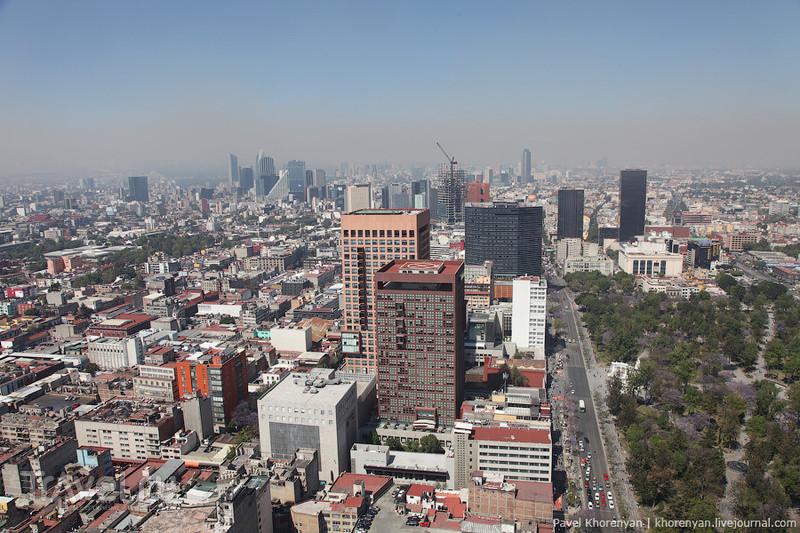 Мехико - громадный город / Фото из Мексики