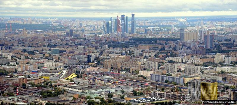 Москва с высоты Останкинской башни / Россия