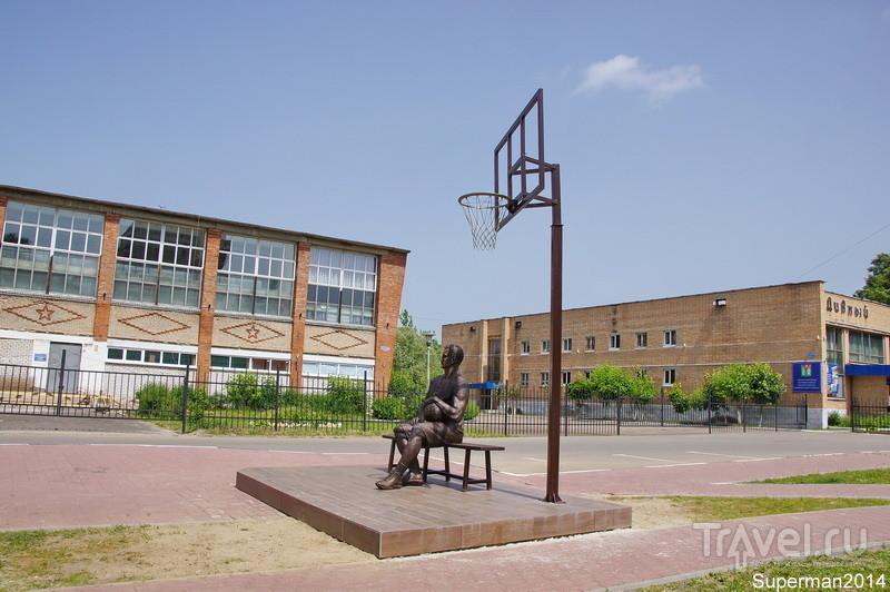 Памятник баскетболисту-победителю в Ликино-Дулёво / Россия