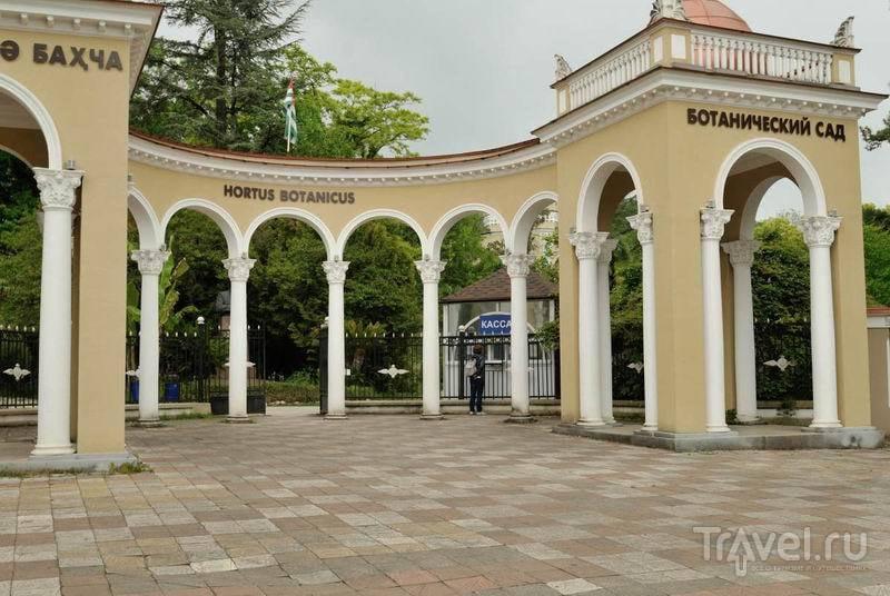 Центральный вход в сухумский ботанический сад / Россия