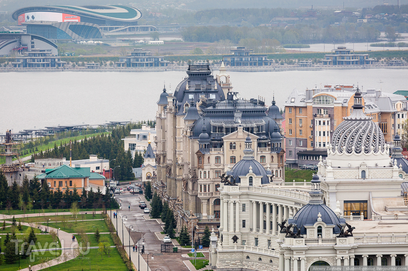 Казань глазами муэдзина. Панорамные виды с минарета мечети Кул-Шариф / Фото из России