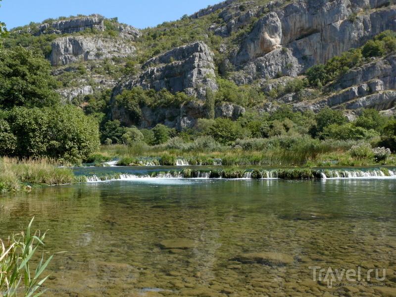 Словения - Хорватия без городов. Парк Крка - протоки и заводи в Рожки Слап / Фото из Хорватии