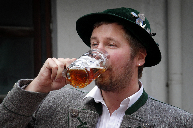 Bergwacht  Gartenfest - уличный праздник на горной вахте / Германия