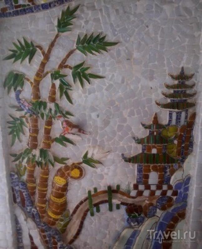 Настенная мозаика, пагода Линь Фуок