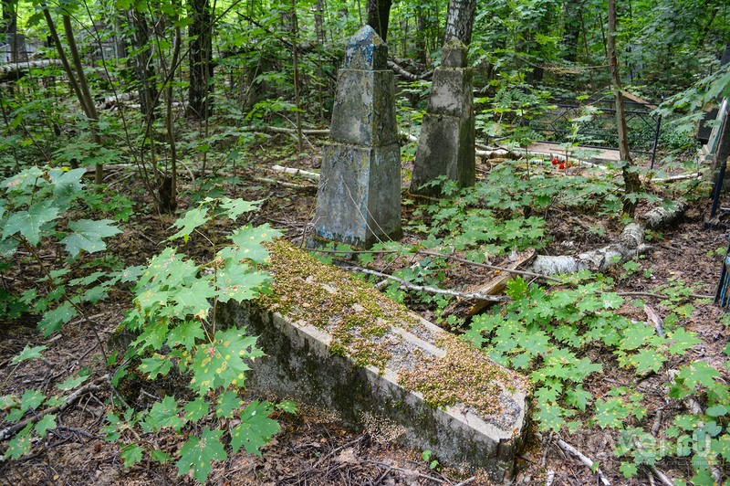 Еврейское кладбище в городе Клинцы Брянской области / Россия