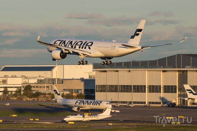 Airbus A350 XWB в аэропорту Хельсинки-Вантаа