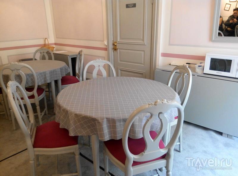 Оборудованная столовая комната