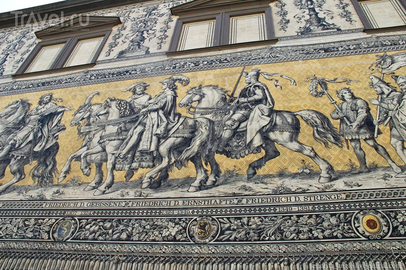 """Дрезден за один день. Терраса Брюля, Хофкирхе и панно """"Шествие князей"""" / Германия"""