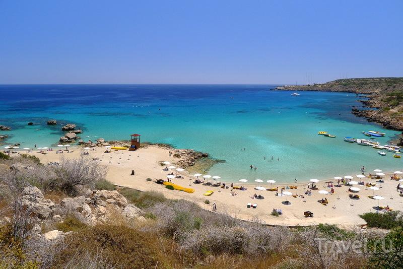 Панорама Konnos bay / Кипр