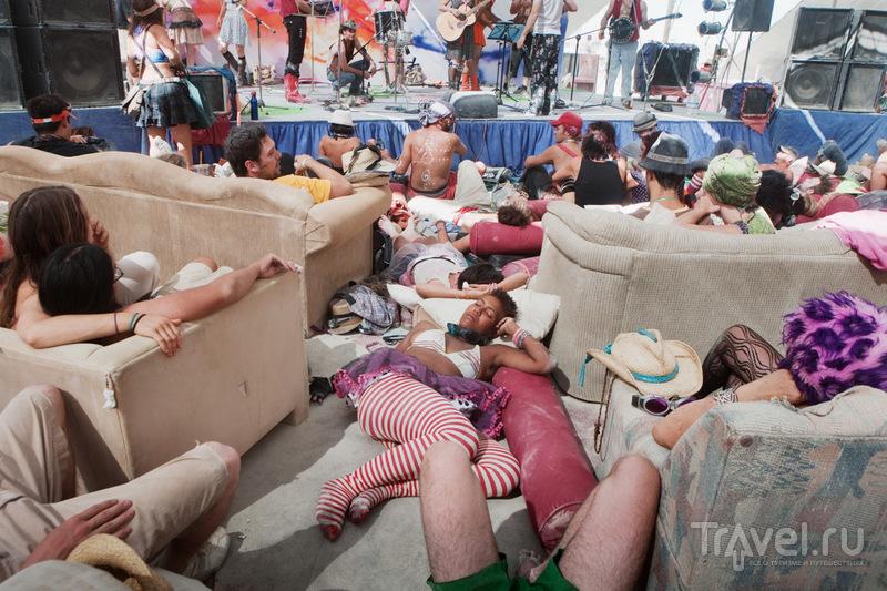 Блэк Рок Сити - временный город Burning Man / Фото из США