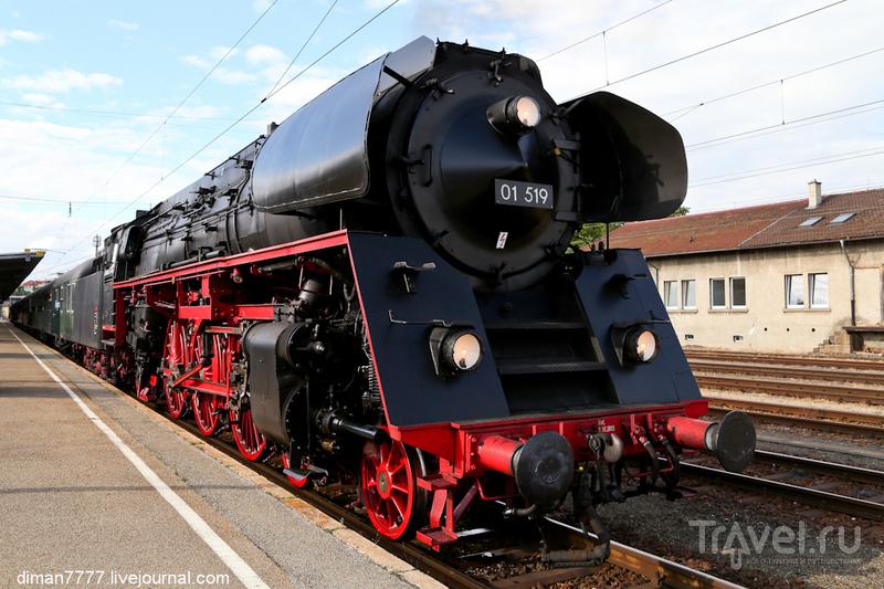 """Исторический паровоз в """"черном лесу"""" / Фото из Германии"""