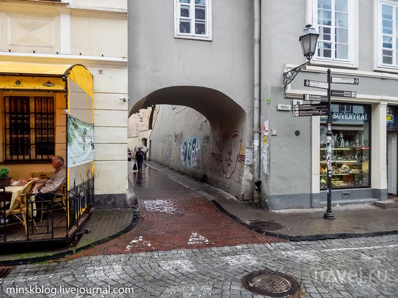 Самая узкая улица Вильнюса / Фото из Литвы