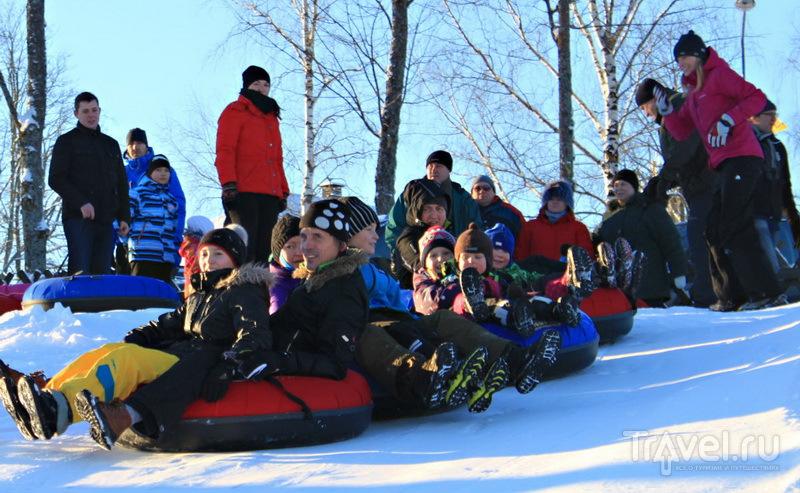 В зимнем парке развлечений Otepää Winterplace