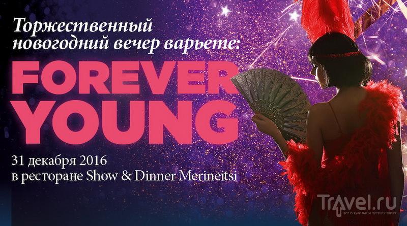 Афиша новогоднего вечера Starlight Cabaret в ресторане Show & Dinner Merineitsi