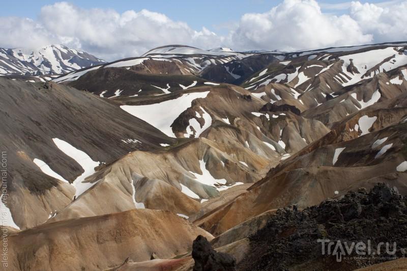 Риолитовые горы Landmannalaugar / Фото из Исландии