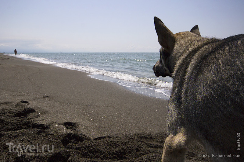 Черное море с черным песком / Грузия
