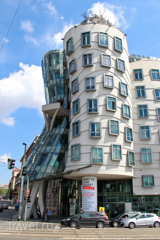 Набережная Масарика и Танцующий дом, Прага / Фото из Чехии