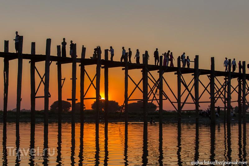 Мьянма. Ловля солнца на тиковом мосту / Фото из Мьянмы