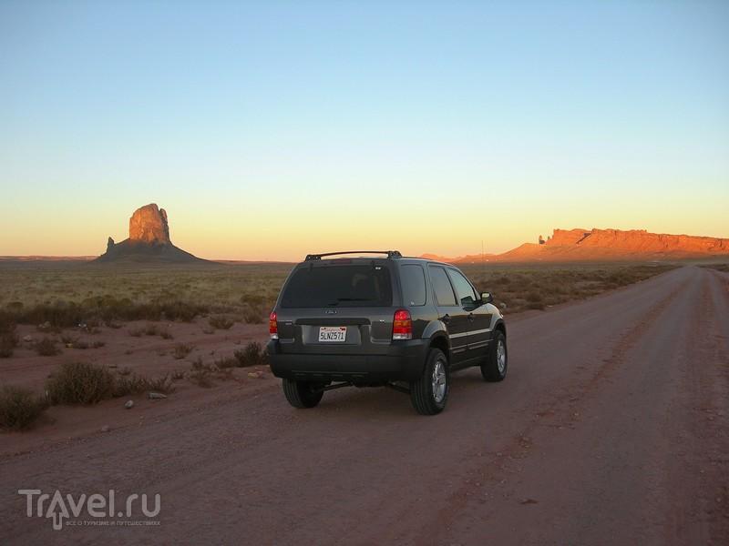 Осень в Аризоне. Скалы на закате дня / США