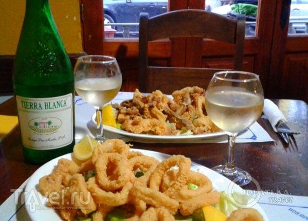 Испанская кухня - кольца кальмаров во фритюре / Фото из Испании