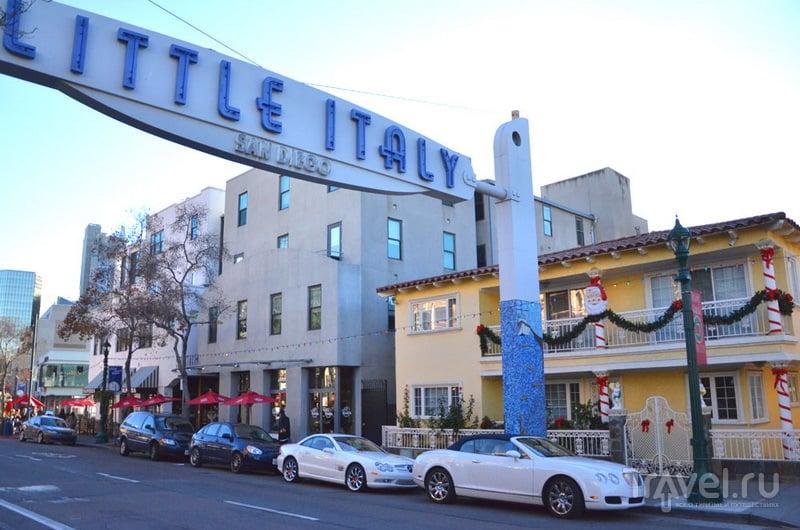 Район Little Italy в Сан-Диего / США