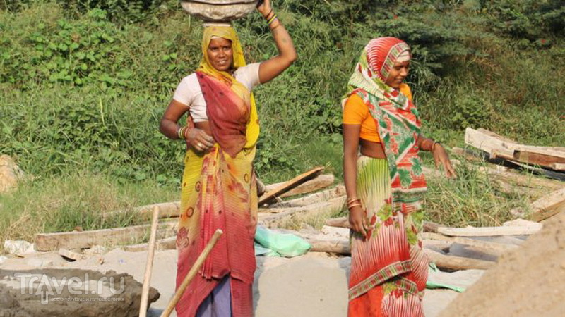 Девушки в сари / Фото из Индии