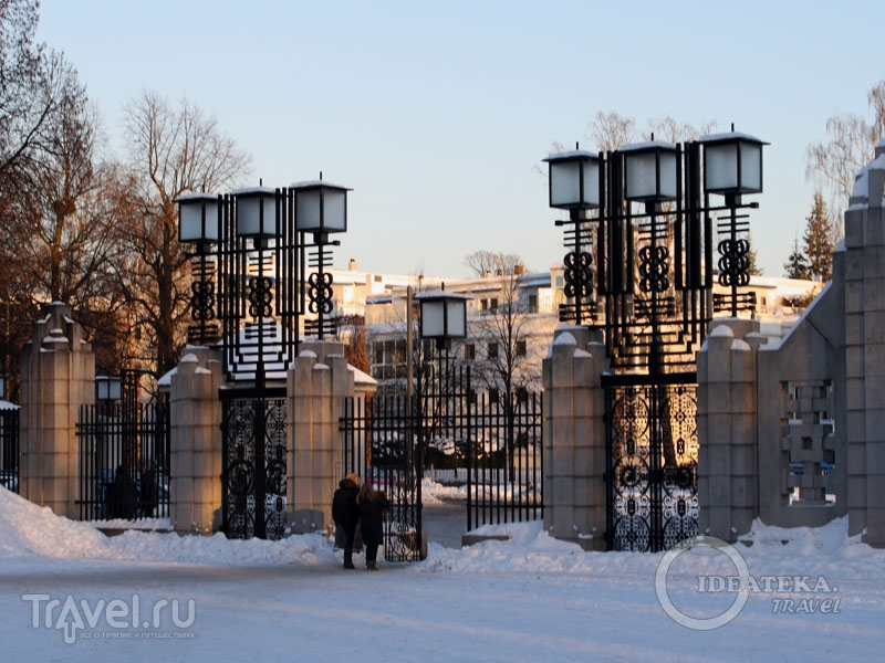 Ворота парка Вигеланда, Осло / Фото из Норвегии