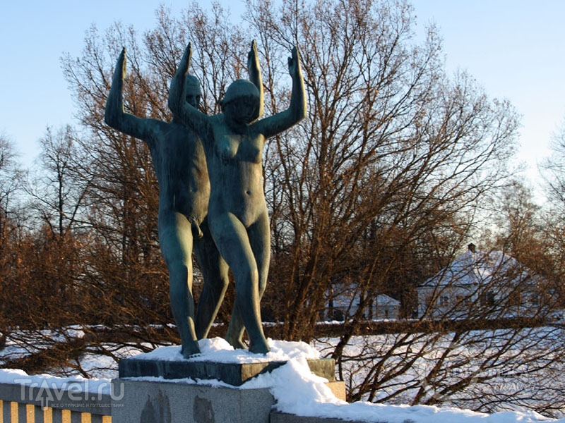 В парке Вигеланда, Осло / Фото из Норвегии